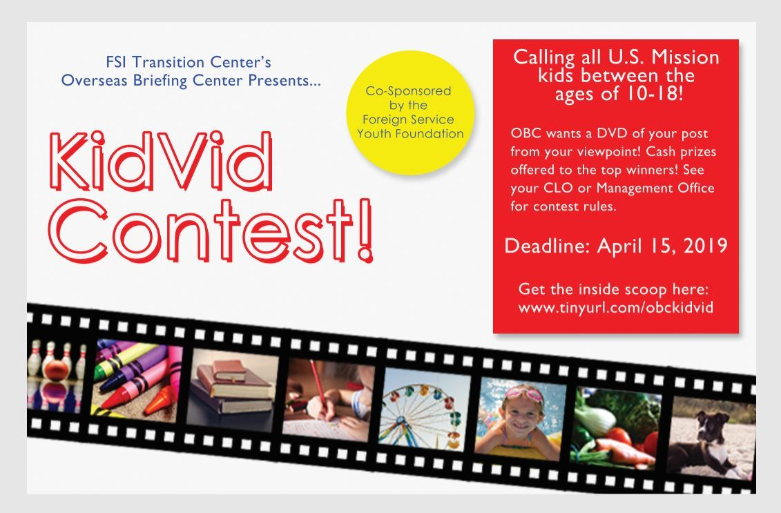 Foreign Service Youth Foundation - KidVid Contest